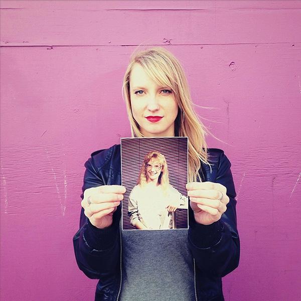 你敢拿着你自己的旧照片合照吗?