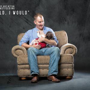 爸爸也可以 母乳喂养创意摄影