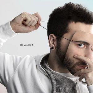 Photoshop教程:给帅哥加上伪装面具