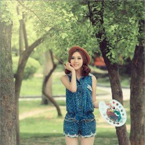 Photoshop打造清爽温暖惬意的女孩夏日写真照调色教程